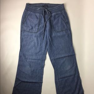 LUCKY BRAND Chambray Draw String Pants